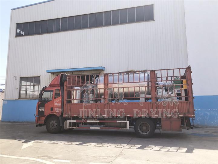 泰州客户订购的4000真空耙式乐天堂是哪个国家的已于今日发货